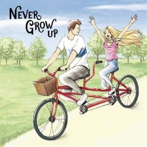 LM7  Never Grow Up Uplifting Card